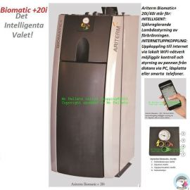 Biomatic +20i-intelligent pelletspanna